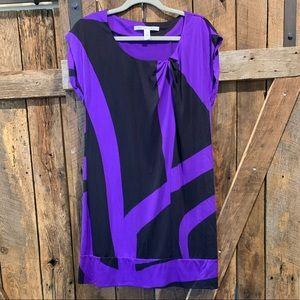 Diane Von Furstenberg Purple and Black Dress